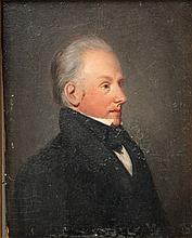Porträtmaler des 19. Jh.: Biedermeierporträt eines Mannes,