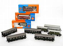 Meist ROCO Konvolut Wagons, Spur H0,