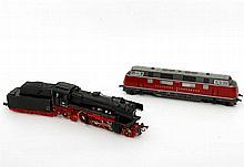 ROCO Diesellok und Tenderlokomotive, Spur H0,