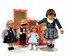 KÄTHE KRUSE vier Puppen, 20.Jh.,