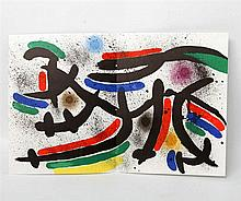 MIRO, JOAN (1893-1983): Lithographie IX (abstrakte Komposition), 1972,