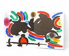 MIRO, JOAN (1893-1983):  Lithographie IV(abstrakte Komposition), 1972,