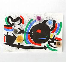 MIRO, JOAN (1893-1983): Lithographie X (abstrakte Komposition), 1972,