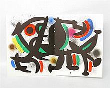 MIRO, JOAN (1893-1983): Lithographie VIII (abstrakte Komposition), 1972,