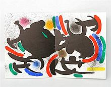 MIRO, JOAN (1893-1983): Lithographie VII (abstrakte Komposition), 1972,