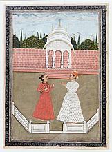 Feine Malerei im Moghul-Stil. INDIEN, wohl um 1800