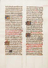 CARANDOLET, ETIENNE(?) Manuskript aus einem Breviarium, wohl 15.Jh.,