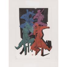 """WILLAND, DETLEF (geb. 1935), """"Das Quartett"""","""