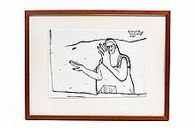 HOLDERRIED-KAESDORF, ROMANE (1922-2007) 'Figur', 1968.