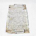 Historische Pergamentrolle - Abschrift eines lateinischen Dokuments