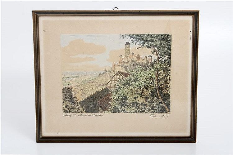 DÖRR, Ferdinand (1880-1968) 'Burg Hornberg am Neckar'.