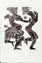 WILLAND, DETLEF (*1935): Tanzendes Paar, wohl 1970er Jahre.