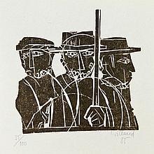 WILLAND, DETLEF (*1935): Drei Männer.