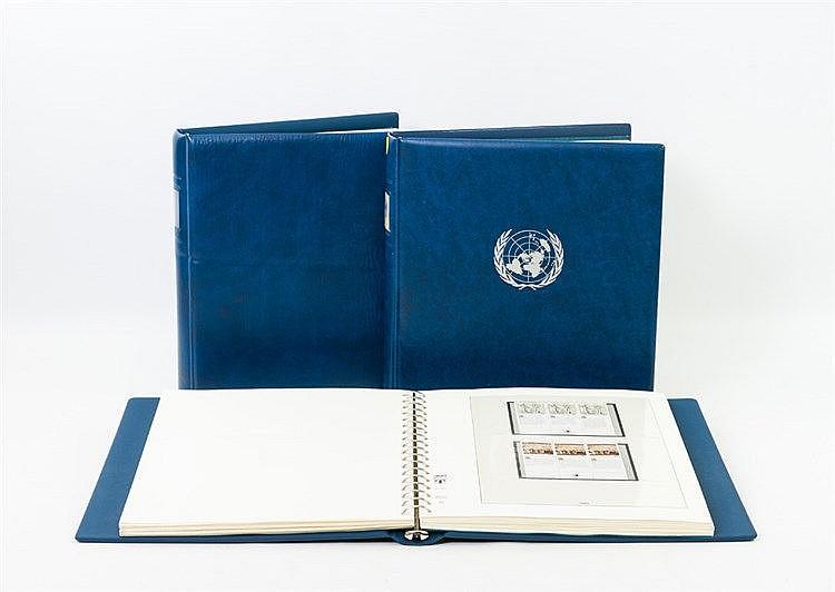 UNO - Sammlung in 3 Vordruckalben von ca. 1979 - 99. Postfrisch und gestempelt.