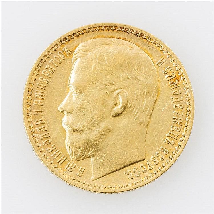 Russland/GOLD - 15 Rubel 1897, Nikolaus II.,