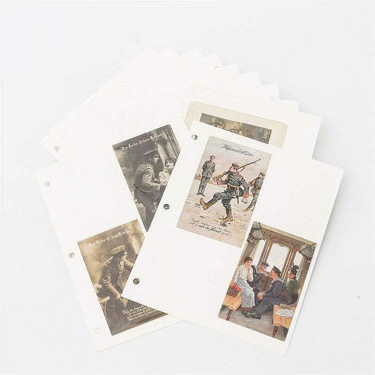 Konvolut hist. Postkarten - Diverse Ansichtskarten vom Beginn des 20. Jhs. mit unterschiedlichen Motiven aus Deutschland wie z. B. Berlin Alexanderplatz oder Zeppelinfahrt, Frankreich und Italien,