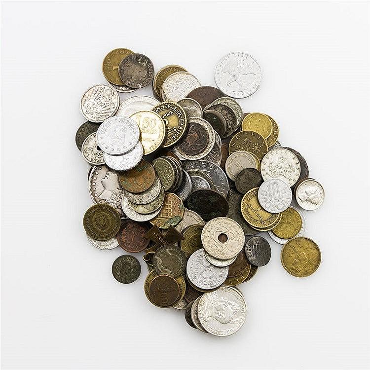 Fundgrube - kleines Tütchen mit älteren Münzen, z. B. Liberty Dollar 1921 / D,