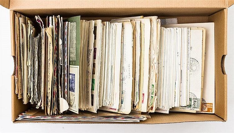 Briefmarken - Schuhkarton mit einigen hundert Briefen und Karten vor und nach 1945,