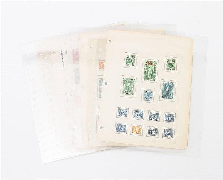 Briefmarken - Kanada Fiskalmarken, ca. 140 Stück einschließlich einiger Ganzsachen-Ausschnitte,