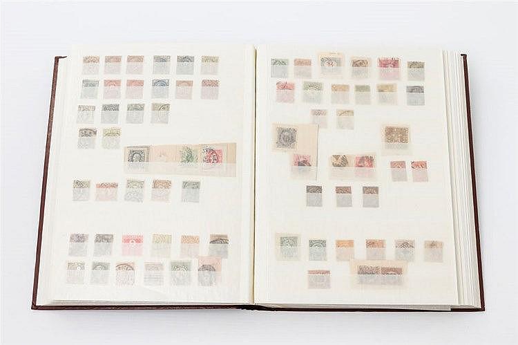 Alle Welt - Einsteckbuch mit meist gestempelten Marken.