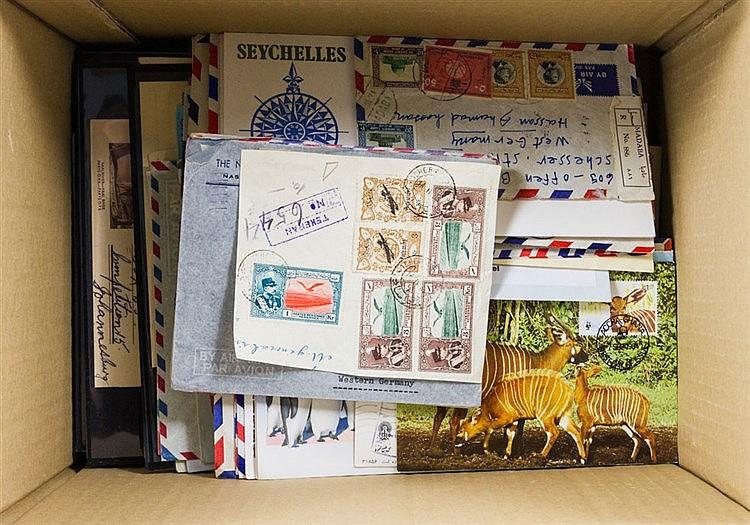 Übersee : Ab 1900, vielseitige Partie mit über 400 Briefen, Belegen und FDC, dabei Asien & Afrika,