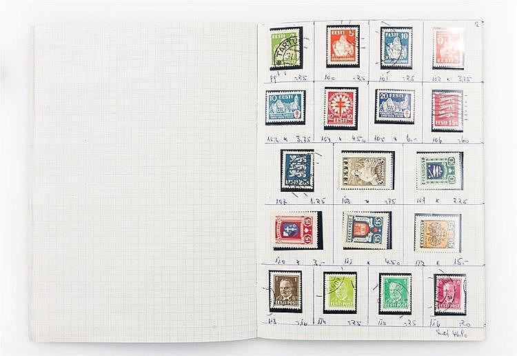 ESTLAND: Auswahlheft mit vielen guten Werten aus 1923,