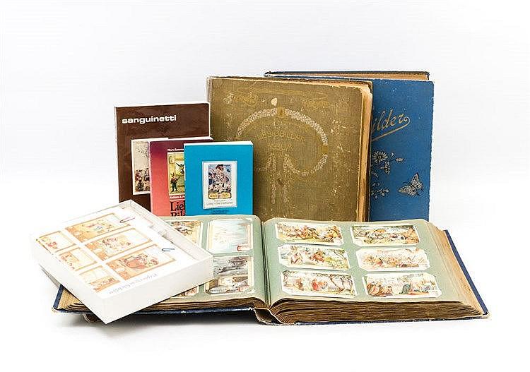 Konvolut Liebig Sammelbilder, Ende 19./Anfang 20.Jh. - Sammelbilder der Produkte von Liebigs Fleischextrakt, sortiert in 4 Alben,