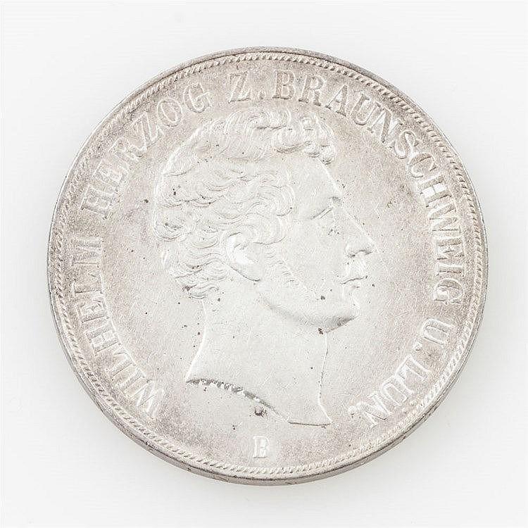 Braunschweig-Wolfenbüttel/ SILBER - 2 Taler 1855/B, Herzog Wilhelm,