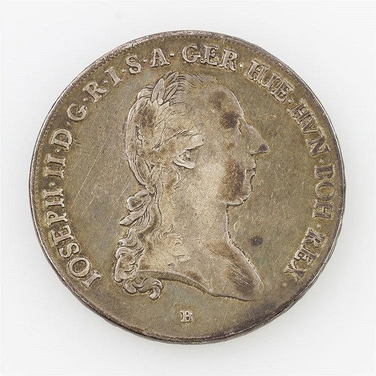Habsburg/ SILBER - 1 Kronentaler 1784/B, Joseph II. als Alleinregent,