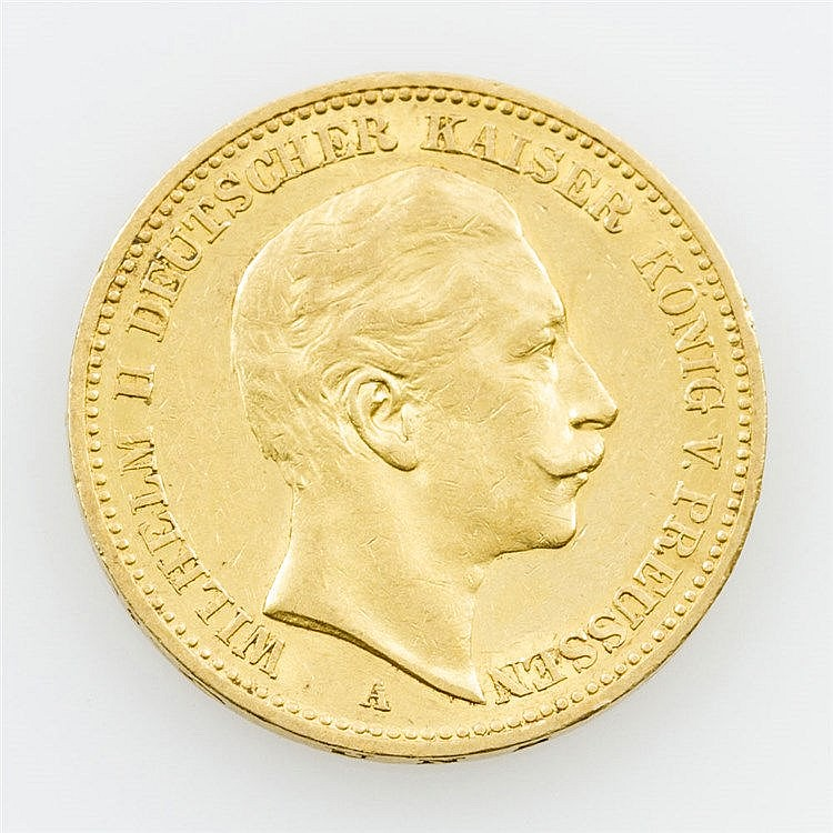 Preussen/ GOLD - 20 Mark 1898/ A, Wilhelm II.,