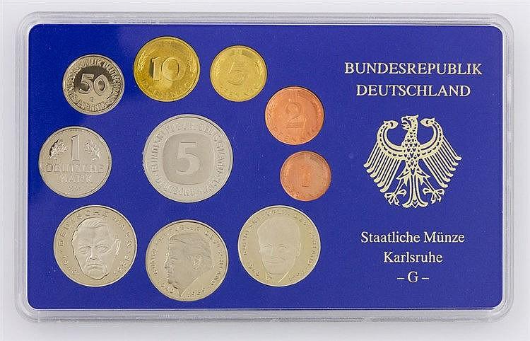 BRD - Kursmünzensatz 1995 G zu DM 12,68.
