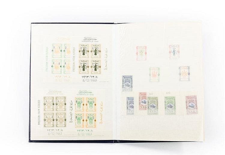 JEMEN - 1926 / 70 Sammlung ab Mi. Nr. 2, dabei viele bessere und gesuchte Ausgaben im Steckbuch, anbei etwas Dubai,