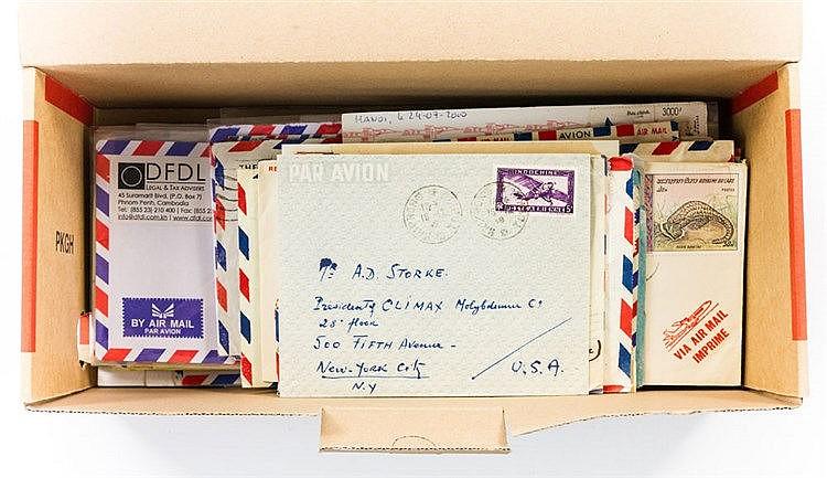 ASIEN - 120 Briefe / Karten aus Indochina, Laos, Vietnam,