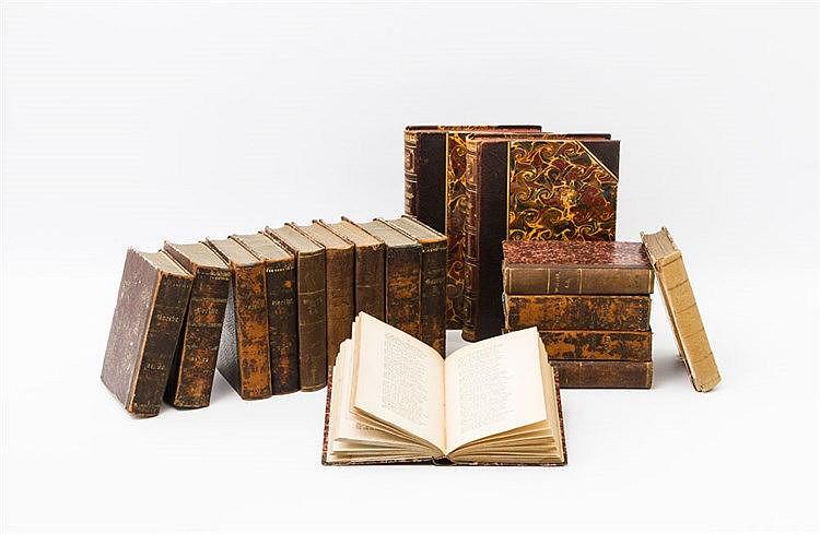 Bücherkonvolut, 19.Jh./20.Jh. - dabei z. B. W. Bölsche, Hausschatz des Wissens, Entwicklungsgeschichte der Natur, 2 Bde, 1894/1986