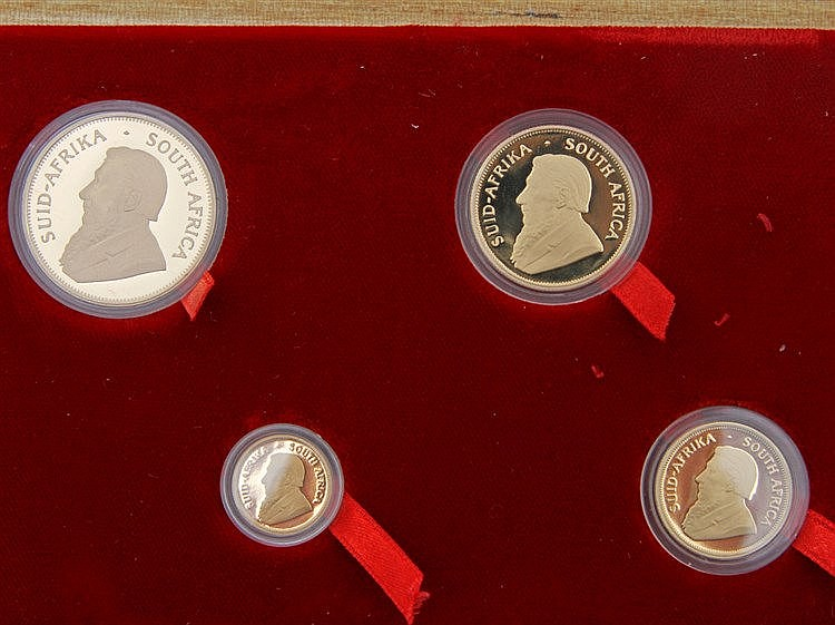 Südafrika/GOLD - Prestige Set, 4 Münzen: