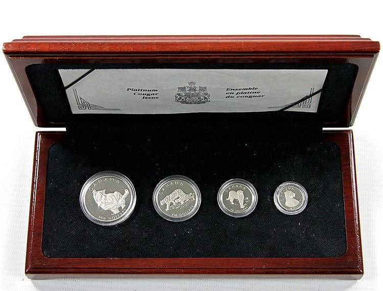 Kanada/PLATIN - Puma Set 1992, bestehend aus 1 x 300 Dollars zu 1 Unze,