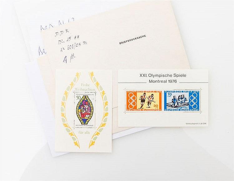 Blöcke - interessantes postfrisches Blocklot BRD, DDR, Alliierte Besetzung.