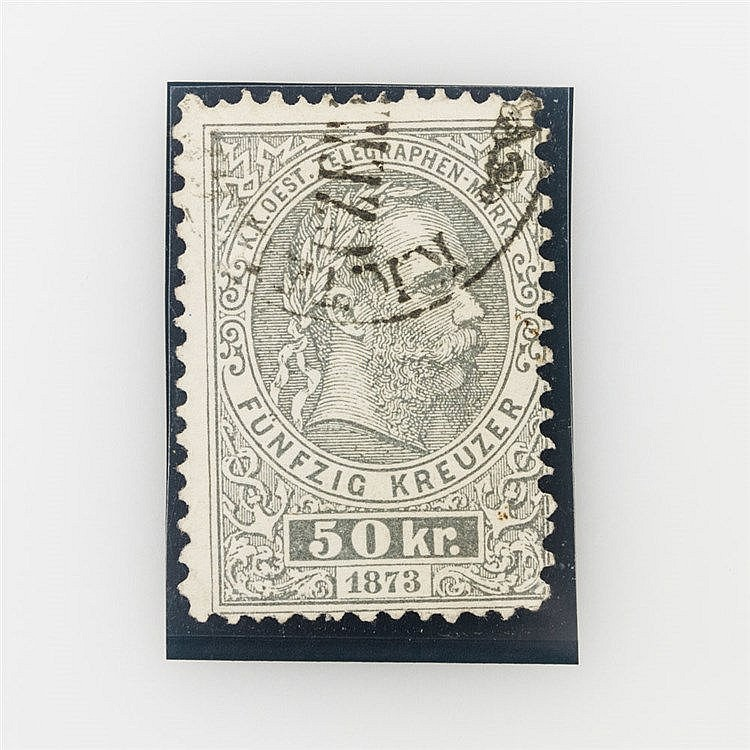 Österreich - Österreich Telegrafenmarke von 1873, Michel Nr. 6a, gestempelt.