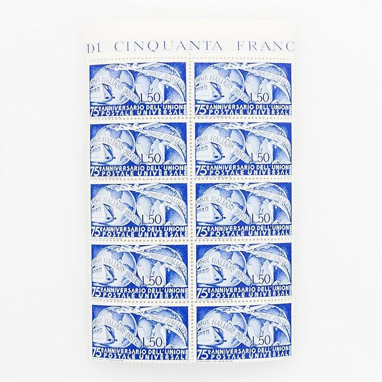 Italien - Postfrischer Zehnerblock der Michel Nr. 772.