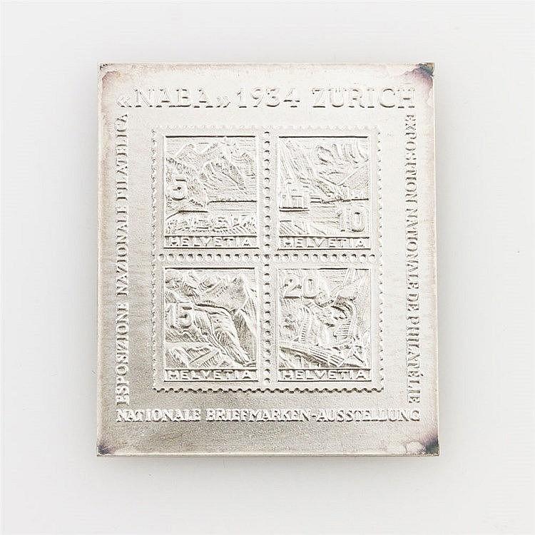 Briefmarke in SILBER - Block 1 von 1934