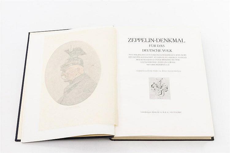 Großformatiges Buch, Anfang 20.Jh. - Luftschiffbau Zeppelin GmbH Friedrichshafen a.B./ Prof. Dr. H. Hildebrandt (Hrsg.), Zeppelin-Denkmal für das deutsche Volk