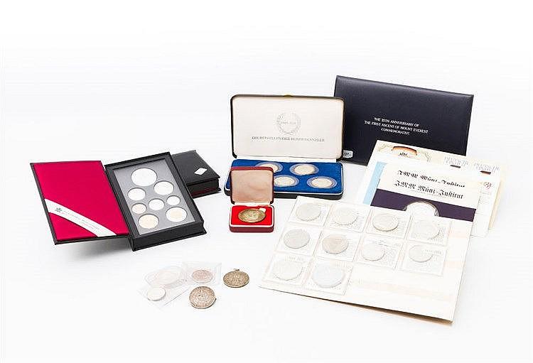 Fundgrube mit viel SILBER - Restsammlung mit 2 x KMS Kanada, Numisbriefen, Silbermedaillen,