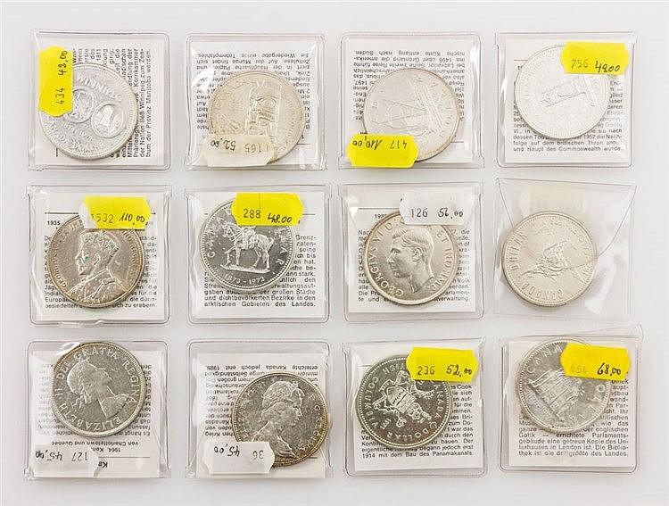 Kanada - aus 1935/1977, Sammlung von 12 verschiedenen Dollars,