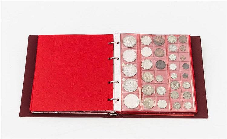 Weltmünzen - Sammlung im Album, über 150 Münzen,