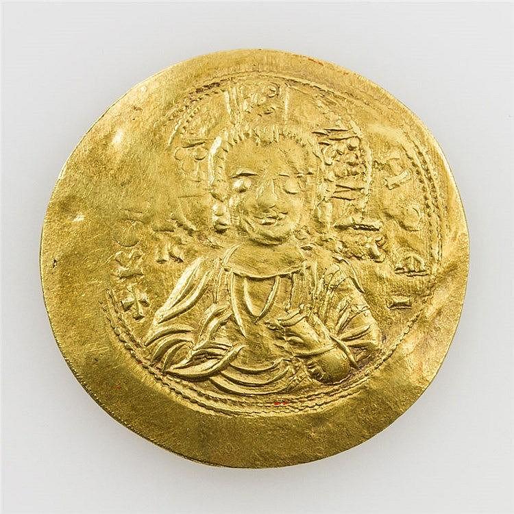 Byzanz / Manuel I. (1143-1180) - Christus-Büste frontal, im Feld: I_C X_C - + KE...HQEI / Manuel stehend frontal - MA/NXH...TW / POP / QV / POG...,