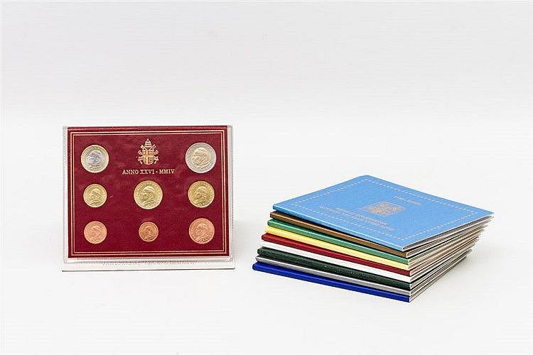 Vatikan - KMS, Serie 2004/12 (insgesamt 10 Stück), inklusive Ausgabe Sedisvakanz 2005,