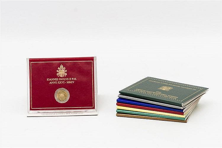 Vatikan - 2 Euro Prägungen 2004/11 (insgesamt 8 Stück)