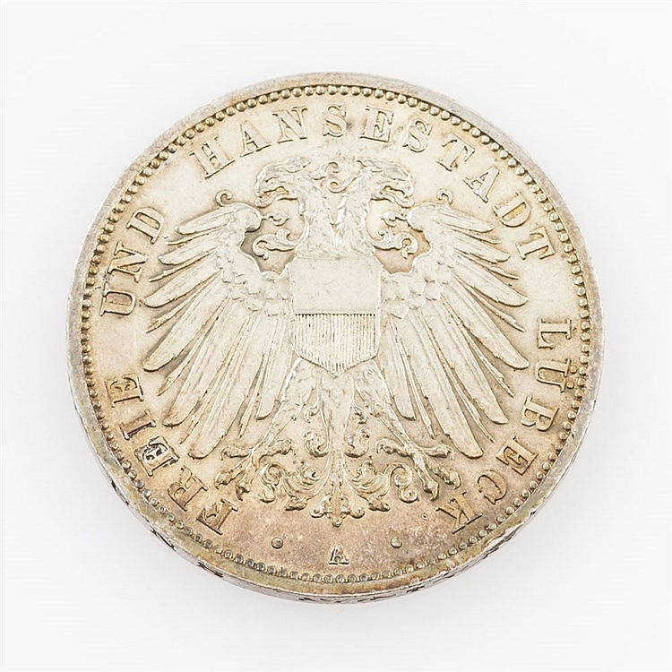 Lübeck - 3 Mark 1912 A,