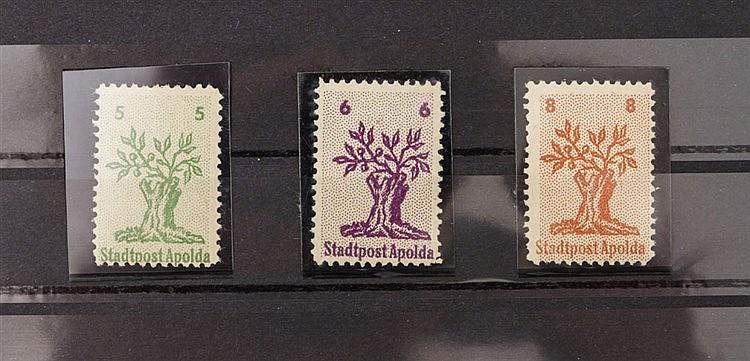 Lokalausgaben ab 1945 - Apolda MiNr.1-3