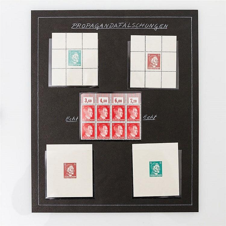 Kriegs- und Propagandafälschungen - Michel Nr.16 postfrisch im 8er Block mit Oberrand.